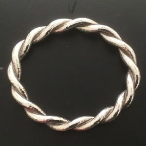Ippolita Twisted, Hammered Silver Bangle, size 3